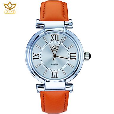 Dames Kwarts Polshorloge Modieus horloge Vrijetijdshorloge PU Band Bloem Zwart Wit Blauw Rood Orange Roze