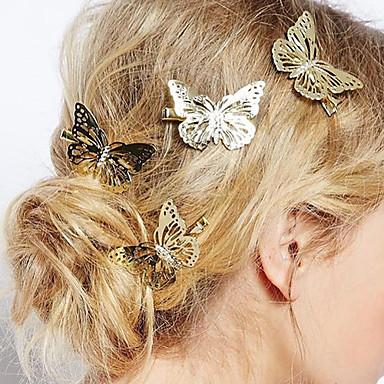 Kadın's Zarif alaşım Saç Klipsi - Çiçekli / Saç İğneleri / Saç İğneleri