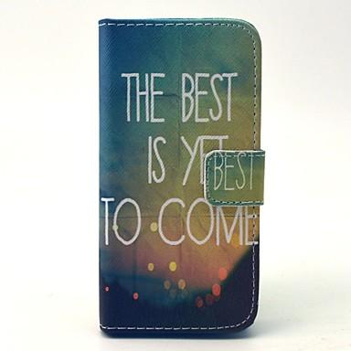 Para Samsung Galaxy Capinhas Porta-Cartão / Carteira / Com Suporte / Flip Capinha Corpo Inteiro Capinha Palavra / Frase Couro PU Samsung