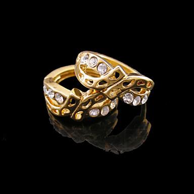 Heart Shape Κουμπωτά Σκουλαρίκια Κοσμήματα Γυναικεία Καρδιά Γάμου Πάρτι Καθημερινά Causal Αθλητικά Ζιρκονίτης Επιχρυσωμένο 2pcs Χρυσαφί