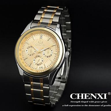 billige Herreure-CHENXI® Herre Armbåndsur Quartz Rustfrit stål Analog Vedhæng - Guld Hvid Sort To år Batteri Levetid / Maxell626 + 2025