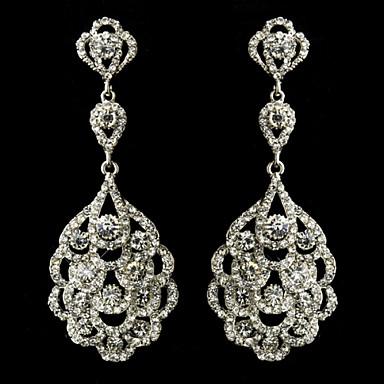 Σκουλαρίκι Κρεμαστά Σκουλαρίκια Κοσμήματα 1pc Γάμου / Πάρτι Κρύσταλλο / Κράμα / Στρας / Επάργυρο Γυναικεία Ασημί