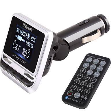 voordelige Bluetooth autokit/handsfree-fm-zender met bluetooth handsfree carkit / met draadloze controller / bluetooth 2.0 / mp3 play usb / TF-kaart