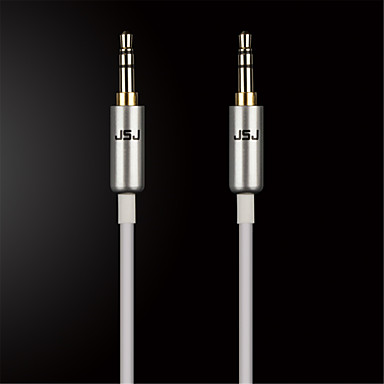 jsj® 3,5 χιλιοστά στερεοφωνικό αρσενικό σε αρσενικό καλώδιο ήχου για κινητό τηλέφωνο / όχημα / οικογένεια (Ποικιλία χρωμάτων od3.0mm 0.5m