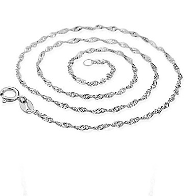 Men's Women's Shape Fashion Chain Necklace Sterling Silver Gold Plated Silver Chain Necklace Party Daily Casual Costume Jewelry