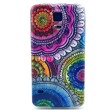 teste padrão de flor em TPU macio para Samsung Galaxy S3 / S3 Mini / S4 / S4 mini-/ S5 / S5 mini-