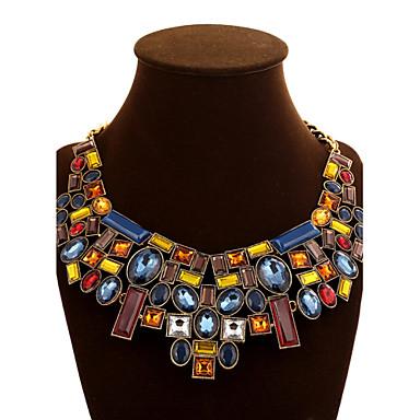 Dames Geometrische vorm Festival/Feestdagen Europees Opvallende sieraden Kettingen Verklaring Kettingen Kristal Synthetische Edelstenen