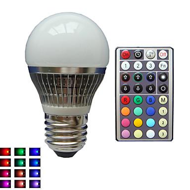 lm E26/E27 LED Küre Ampuller A50 1 led Yüksek Güçlü LED Kısılabilir Dekorotif Uzaktan Kumandalı RGB AC 85-265V