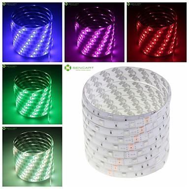 SENCART Ευέλικτες LED Φωτολωρίδες 150 LEDs Θερμό Λευκό RGB Άσπρο Πράσινο Κίτρινο Μπλε Κόκκινο Τηλεχειριστήριο Μπορεί να κοπεί Με ροοστάτη