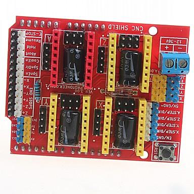 cnc gravura máquina shield v3 3d impressora bordo motorista placa de expansão a4988 para arduino