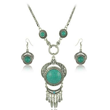 Pentru femei Set bijuterii 1 Colier 1 Pereche de Cercei - Euramerican Modă Geometric Shape Negru Rosu Albastru Colier / cercei Pentru