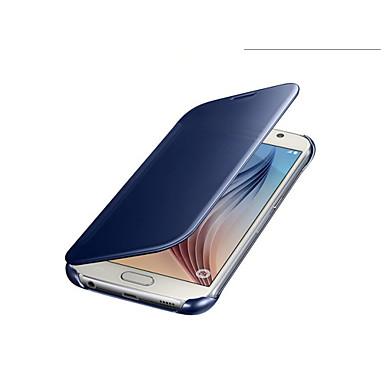 αρχική πολυτέλεια σαφή εικόνα της οθόνης καθρέφτη αναστροφή δερμάτινη θήκη για το κινητό τσάντες Samsung Galaxy S6 καλύπτουν έχουν