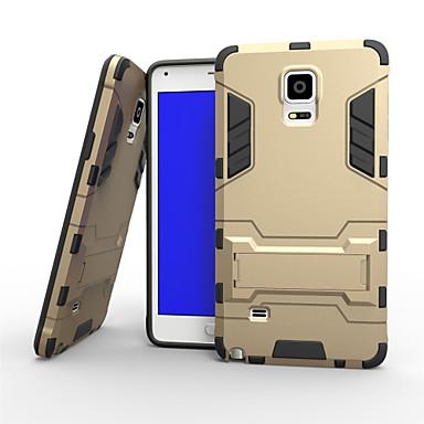 Για Samsung Galaxy Note Θήκες Καλύμματα Ανθεκτική σε πτώσεις με βάση στήριξης Πίσω Κάλυμμα tok Πανοπλία Σκληρή PC για Samsung Note 4