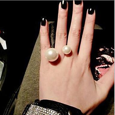 Mulheres Maxi anel Clássico Romântico Pérola Imitação de Pérola Liga Jóias Diário Casual
