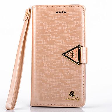 Voor Samsung Galaxy Note Portemonnee / Kaarthouder / met standaard / Flip hoesje Volledige behuizing hoesje Glitterglans PU-leer Samsung