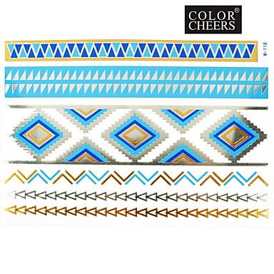 #(1) - #(23x15) - Χρυσό Σειρά Κοσμημάτων - Αυτοκόλλητα Τατουάζ - Μοτίβο - από Χαρτί για Γυναικεία/Girl/Ενήλικες/Εφηβικό