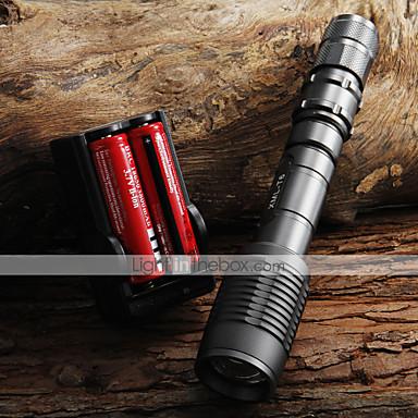 UltraFire LED Fenerler LED 2000 lm 5 Kip LED Piller ve Şarj Aleti ile Zoomable Ayarlanabilir Fokus Kamp/Yürüyüş/Mağaracılık Günlük