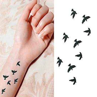 Séries Animal Tatuagem Adesiva - Non Toxic/Lombar/Waterproof - para Bebê/Criança/Feminino/Masculino/Adulto/Adolescente - de Papel -