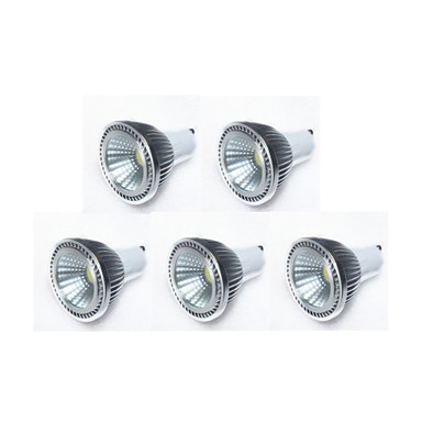 GU10 LED-spotlampen MR16 1 leds COB 450lm Warm wit Koel wit Natuurlijk wit Dimbaar AC 220-240 AC 110-130