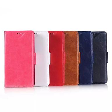 Capinha Para Nokia Capinha Nokia Carteira Porta-Cartão Com Suporte Corpo Inteiro Côr Sólida Rígida Couro Ecológico para Nokia Lumia 640