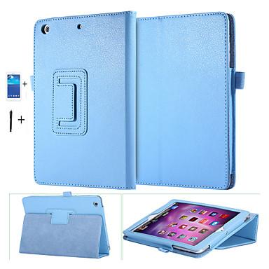 pu lederen case voor Apple iPad mini 1 2 3 slimme stand magnetische slaap wake up tasje cover + screen protector + stylus