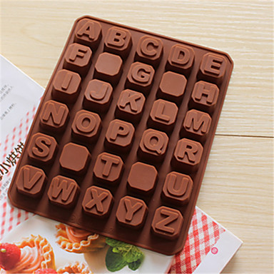bakeware σιλικόνη αγγλικό αλφάβητο μήτρες σε σχήμα ψησίματος για σοκολάτας