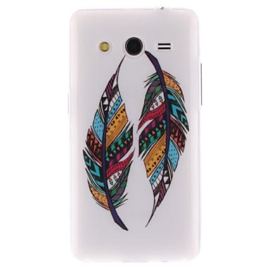 Capinha Para Samsung Galaxy Samsung Galaxy Capinhas Estampada Capa traseira Penas TPU para Core 2