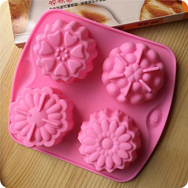 moldes de cozimento flores bakeware silicone em forma de geléia bolo de chocolate
