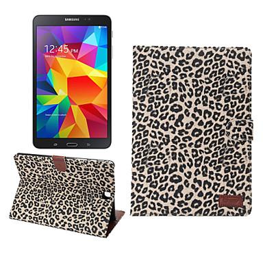 Voor Samsung Galaxy hoesje Kaarthouder / Portemonnee / met standaard / Flip hoesje Volledige behuizing hoesje Luipaardprint PU-leer