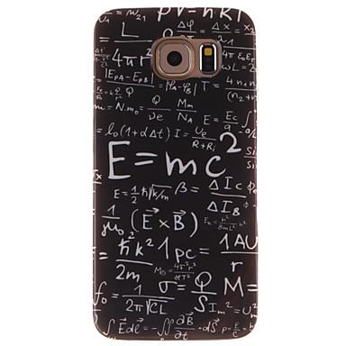 Voor Samsung Galaxy hoesje Patroon hoesje Achterkantje hoesje Woord / tekst TPU Samsung S6