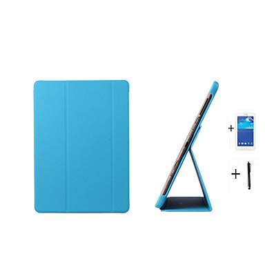 Voor Samsung Galaxy hoesje met standaard / Flip / Origami hoesje Volledige behuizing hoesje Effen kleur PU-leer Samsung Tab S 10.5
