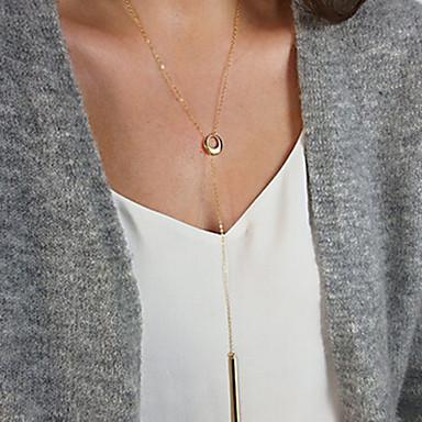 billige Mode Halskæde-Dame Kvast Halskædevedhæng lang halskæde Damer Tassel minimalistisk stil Guld Sølv Halskæder Smykker Til