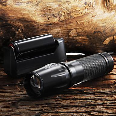 Lanterne de Breloc LED 2200 Lumeni 5 Mod Cree XM-L T6 18650 AAA 26650 Focalizare Ajustabilă Mâner antialunecare Zoomable
