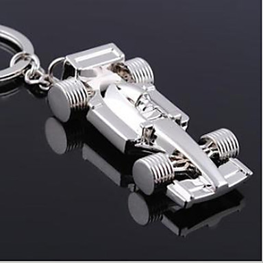 Auto f1 race auto sleutelhanger roestvrij stalen sleutel ring organisator houder slivery duurzame sleutelring cadeau
