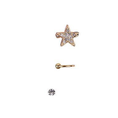 Γυναικεία Stea Στρας Χειροπέδες Ear - Σκουλαρίκια Για Γάμου Πάρτι Καθημερινά