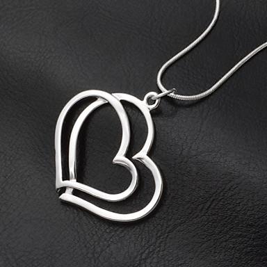 Pingentes N/D Heart Shape prata 1
