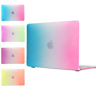arco-íris projeto pc caso de corpo inteiro para macbook retina 12 (cores sortidas)