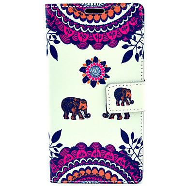 χαριτωμένο μοτίβο ελέφαντα με θήκη τσάντα κάρτα γεμάτο σώμα για Samsung Galaxy Note 4 n9100