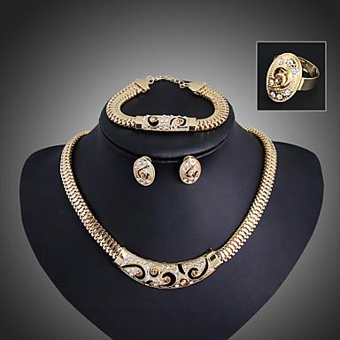 Jóias-Colares / Brincos / Anéis / Bracelete(Liga / Strass)Casamento / Pesta Presentes de casamento