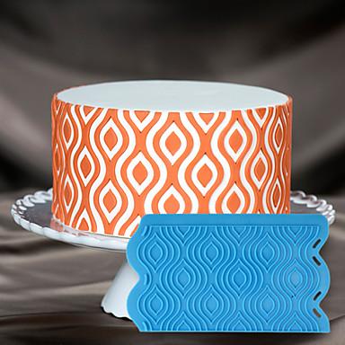 διακόσμηση κέικ μούχλα σιλικόνης 3d στένσιλ τούρτα Ikat πλέγμα καλούπι σιλικόνης για τη σοκολάτα φοντάν και τις τέχνες& χειροτεχνία