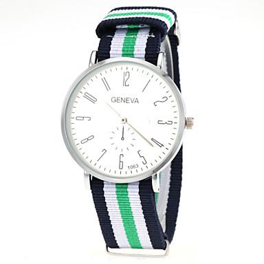 זול שעוני גברים-בגדי ריקוד גברים שעון יד קווארץ ניילון צבעוני מכירה חמה אנלוגי קסם קלסי אריסטו - אדום כחול אדום /  לבן לבן /  ירוק שנה אחת חיי סוללה / SSUO LR626