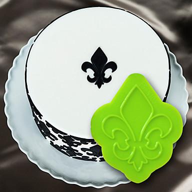 τούρτα διακόσμηση μούχλα 3d κέικ στένσιλ σιλικόνης fleur de lis μετάλλιο καλούπι για τη σοκολάτα φοντάν και τις τέχνες&χειροτεχνία