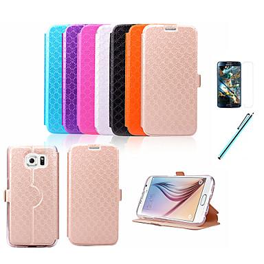 hoesje Voor Samsung Galaxy Samsung Galaxy hoesje Kaarthouder met standaard Flip Reliëfopdruk Volledig hoesje Geometrisch patroon PU-nahka