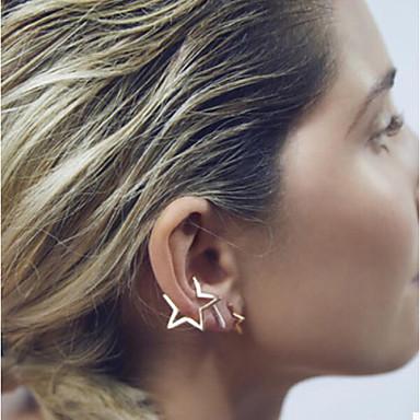 Feminino Brincos Curtos Punhos da orelha Estilo simples Moda Cobre Estrela Jóias Para Casamento Festa Diário Casual