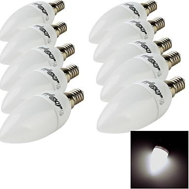 E14 LED Λάμπες Κεριά 10 leds SMD 2835 Διακοσμητικό Θερμό Λευκό Ψυχρό Λευκό 200lm 3000/6000K AC 220-240V