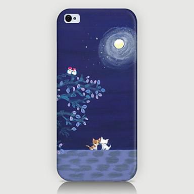 Για Θήκη iPhone 5 Με σχέδια tok Πίσω Κάλυμμα tok Γάτα Σκληρή PC iPhone SE/5s/5