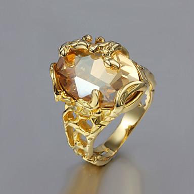Γυναικεία Εντυπωσιακά Δαχτυλίδια Μοντέρνα Επιχρυσωμένο Κοσμήματα Γάμου Πάρτι Καθημερινά Causal