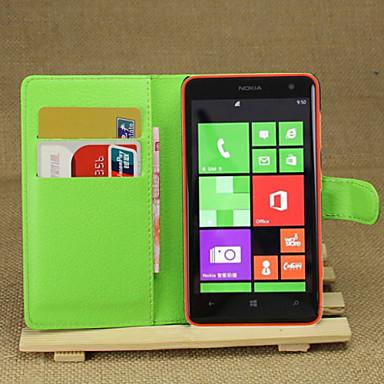 litchi rond geopend beugel lederen telefoon portemonnee kaart geschikt voor Nokia Lumia 625 (assorti kleur)