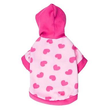 Kat Hond Hoodies Hondenkleding Casual/Dagelijks Harten Roze Kostuum Voor huisdieren