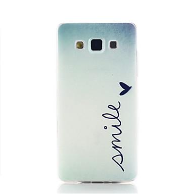 Για Samsung Galaxy Θήκη Με σχέδια tok Πίσω Κάλυμμα tok Λέξη / Φράση TPU Samsung A3
